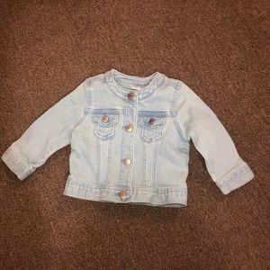 Jean jacket baby girl size 6-12 months